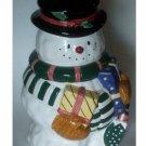 Snowman Cookie Jar Ceramic
