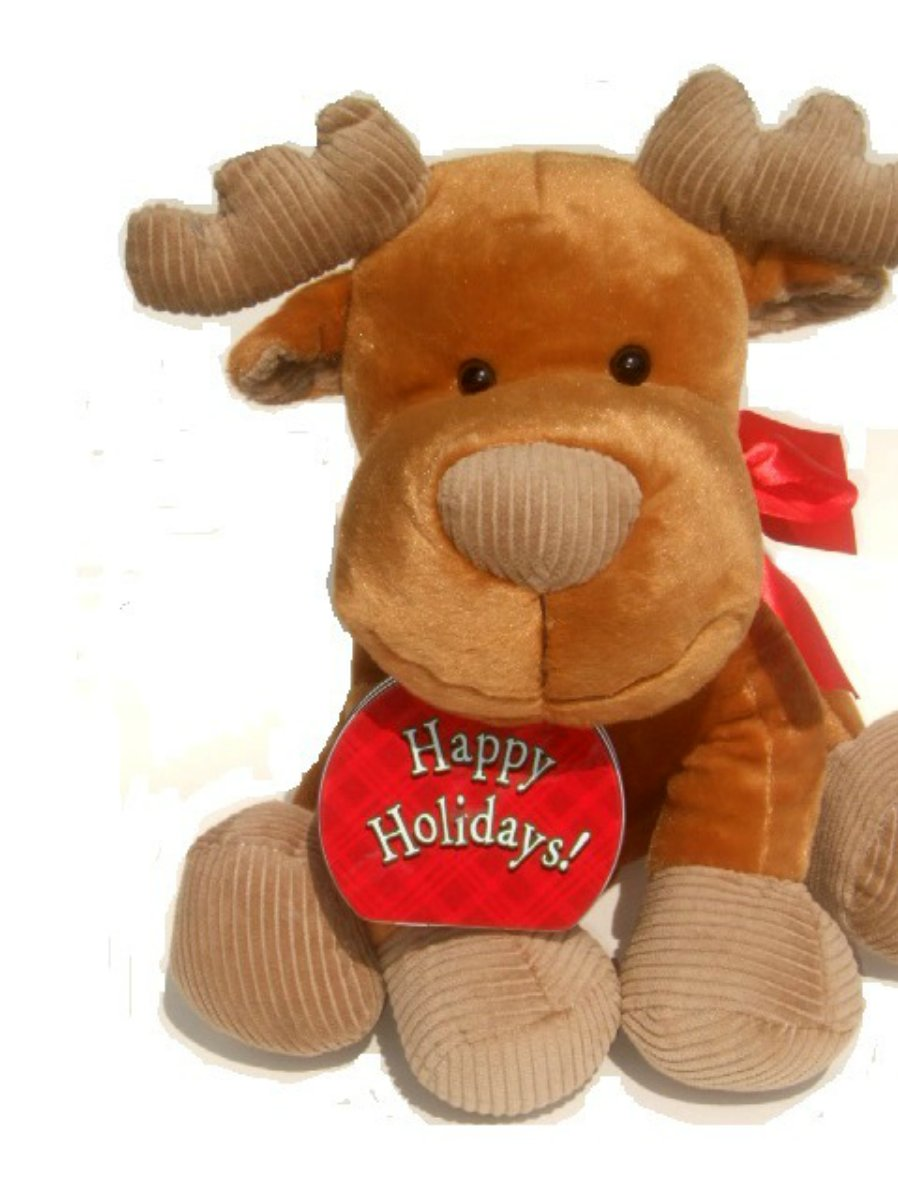 Happy Holiday Reindeer Plush with Metal Gift Tin