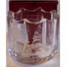 Winter Wonderland Glass Candle Holder Cabin Pines