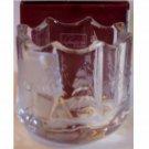 Winter Wonderland Glass Candle Holder Cabin Pines