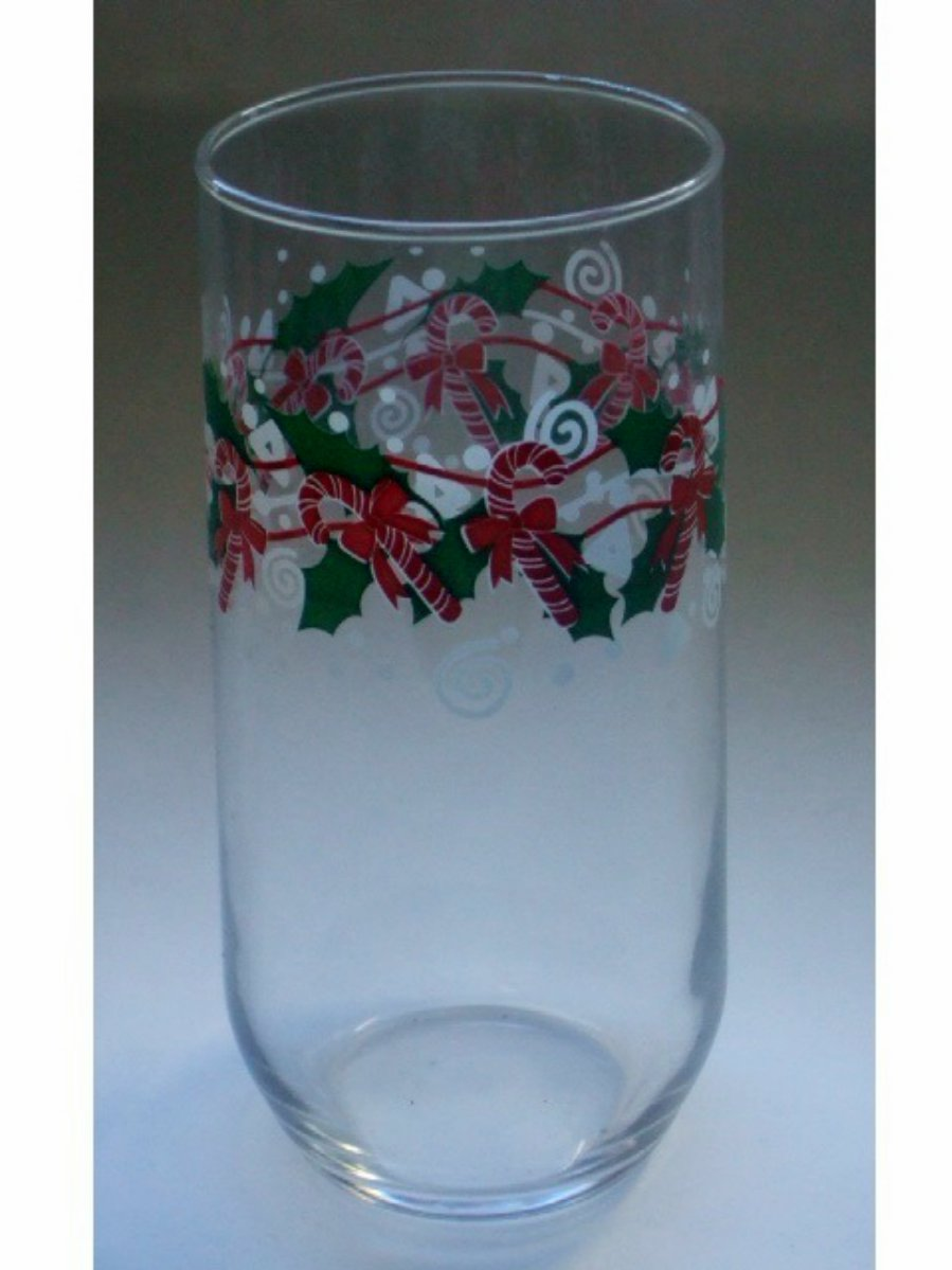 Christmas Holiday Beverage Glasses Set