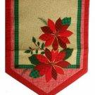 Christmas Holiday Table Runner Poinsettia