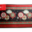 Christmas Holiday Kitchen Rug Ornaments Snowflakes