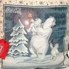 Christmas Pillow Coca Cola Bears Decorating Tree Holiday Decor