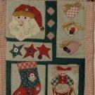 Christmas Fabric Wall Hanging Santa Stars Hearts