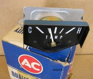 1965 1966 Chevy Temperature gauge NOS P# 6402078