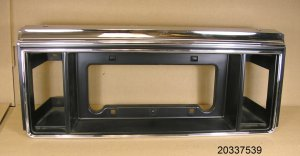 1982 1984 Pontiac 6000 limited license plate bezel NOS