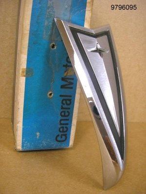 1969 Pontiac Lemans Tempest NOS bumper emblem