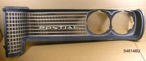 1969 Pontiac Tempest all exc GTO LH grill