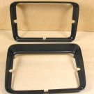 1979 81 Pontiac Firebird black head lamp bezel pair NEW