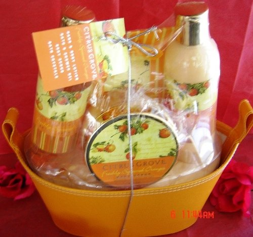 CITRUS GROVE & SHEA BUTTER 4 PC BATH SET