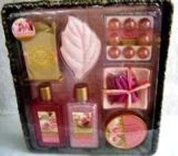 ROSE & SANDLEWOOD 8 PC AROMATHERAPY BATH SET