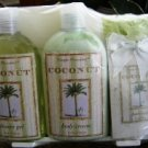 SIMPLE PLEASURE'S 5 PC COCONUT CREAM BATH SET