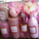 GRAPEFRUIT MELON 6 PC 8 OZ BATH SET W/ PILLAR CANDLE