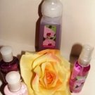 BATH & BODY WORKS ENCHANTED ORCHID 4 PC TRAVEL BATH & HAND ANTI-BAC SET