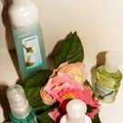 BATH & BODY WORKS SEA ISLAND COTTON 4 PC TRAVEL BATH & HAND ANTI-BAC SET