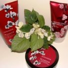 BATH & BODY WORKS JAPANESE CHERRY BLOSSOM 3 PC SET W/ BODY BUTTER