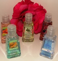 BATH & BODY WORKS 5 PC MIXED FRAGRANCES ANTI-BATERIAL HAND GELS