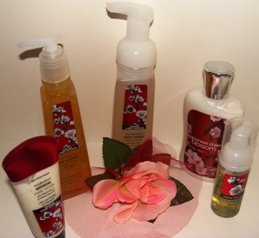 BATH & BODY WORKS JAPANESE CHERRY BLOSSOM 5 PC ANTI-BATERIAL COLLECTION