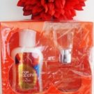 BATH & BODY WORKS ORANGE SAPPHIRE 2 PC LOTION & PERFUME SET
