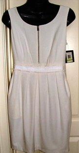 MARC NEW YORK WOMEN'S IVORY GABARDINE SCOOP NECK POCKET DRESS, SIZES 4,12