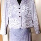ISABELLA 2 PC WOMEN'S WHITE CHIC CLASSIC SUIT, SIZES 14