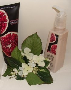 BATH & BODY WORKS 2 PC MIDNIGHT POMEGRANTE TRAVEL HAND CARE SET