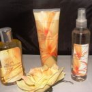 BATH & BODY WORKS 3 PC WILD HONEYSUCKLE BATH SET
