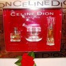CELINE DION'S 3 PC MINI WOMEN'S PERFUME COLLECTION GIFT SET