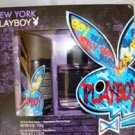 NEW YORK PLAYBOY 2 PC MEN COLOGNE & BODY GIFT SET