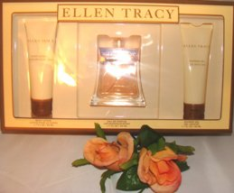 ELLEN TRACY WOMEN'S 3 PC 1.7 OZ PERFUME & BODY GIFT SET