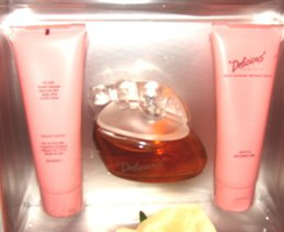 DELICIOUS 3 PC WOMEN'S PERFUME AND BODY GIFT SET