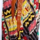 DOUBLE ZERO WOMEN'S MULTI COLOR MAXI SKIRT WITH ATTACHED LEATHER BELT SIZE SM, MED, L