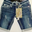 VIGOSS DARK BERMUDA WASH DENIM SHORTS SIZES SM, MED