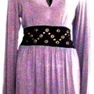 VFISH WOMEN'S GREY/BLACK V-NECK LONG SLEEVE DRESS SIZE SM, MED