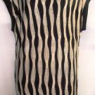 DOUBLE ZERO BLACK/WHITE STRIPE TUNIC SWEATER, SIZE SM 4-6, MED 8-10, LG 12-14