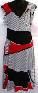 BALI SLEEVELESS MULTI- COLOR PRINT A-LINE DRESS SIZE SM 4-6