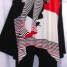 BALI PICTURE PRINT MULTI-COLOR TUNIC W/ PANTS SET SIZE XL