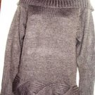 WOW COUTURE WOMEN'S KNIT CHARCOAL GREY OFF SHOULDER SWEATER, SIZE SM 4-6
