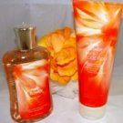 BATH & BODY WORKS BUTTERFLY FLOWER 3 PC BATH SET