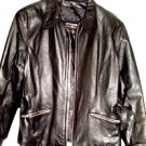 WILSON WOMEN'S WING COLLAR BLACK LEATHER JACKET SIZE, L