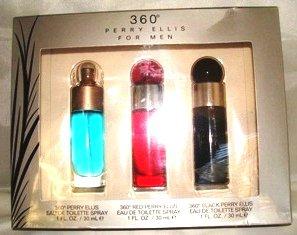 PERRY ELLIS 360 3 PC MEN 1 OZ SPRAY COLOGNE GIFT SET