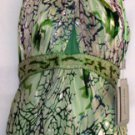 NINA AUSTIN SLEEVELESS MULTI-GREEN FLOWER GOWN W/ CHOCKER NECK SIZE, MED