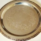 "Wm ROGERS VINTAGE SILVERPLATED ETCHED 12"" DIAM. SERVING TRAY"