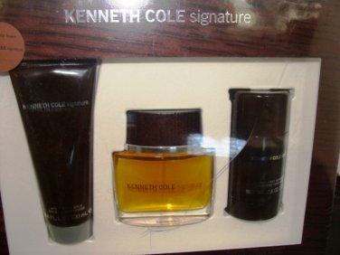 KENNETH COLE SIGNATURE 3 PC 1.7 OZ MEN COLOGNE & BODY GIFT SET