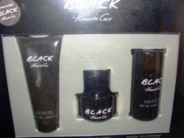 KENNETH COLE BLACK 3 PC 1.7 OZ MEN COLOGNE & BODY GIFT SET