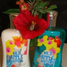BATH & BODY WORKS WILD APPLE DAFFODIL 2 PC BATH SET