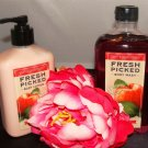 B & BW FRESH PICKED APPLES 2 PC BATH SET