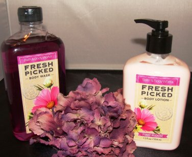 B & BW FRESH PICKED FIRST BLOOM 2 PC BATH SET