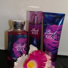 BATH & BODY WORKS DARK KISS 3 PC BATH SET